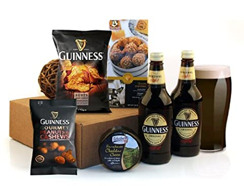 Guinness Gifts - This Popular Beer Gift includes 2 Bottles of The Magic of Guinness with Savoury Snacks and