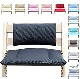 Blausberg Baby - coussin set Junior de siège pour chaise haute Stokke Tripp Trapp - gris avec étoiles
