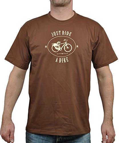 T-Shirt Herren Eidos Just Ride a Bike - Münster T-Shirt Chocolate