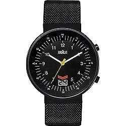 Braun BN0087BKBKMHG - Reloj de cuarzo, para hombre con correa de acero inoxidable, color negro