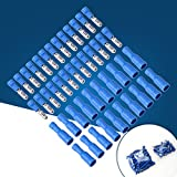 rosenice 100pcs Terminale Elettrico connettore cilindrici isolate Kit Blu