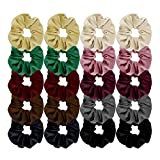 HBF Elastico Capelli Velluto Molto Comodo 20 Pezzi Elastici per Capelli in 10 Colori Diversi Fascia Donna