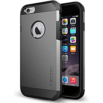 Spigen Coque iPhone 6 [Armure] Coque iPhone 6 [Tough Armor] [Gunmetal] Protection Extreme Double