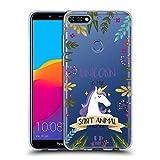 Head Case Designs Einhorn Seelen Tiere Abbildungen Soft Gel Hülle für Huawei Honor 7C / Enjoy 8