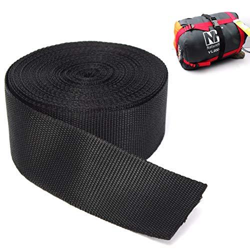 515ZV6zw5sL. SS500  - KING DO WAY Nylon Webbing Tape Multi-purpose For DIY Craft Backpack Strapping Apron Bunting Black 5cmx10m