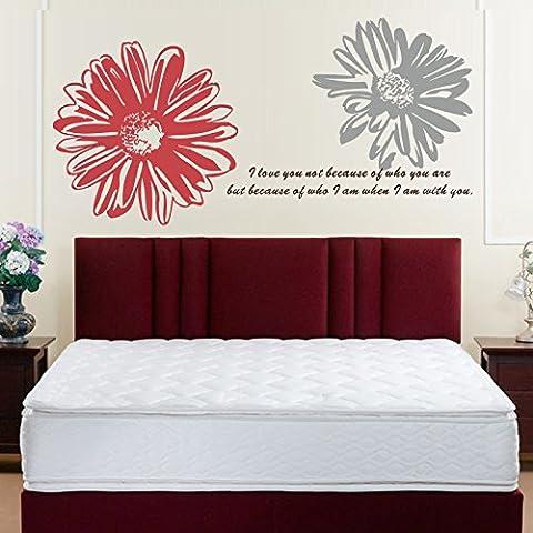 Decorazione di sfondo di grande fiore intagliato muro Adesivi-Camera da letto divano , 4 , in