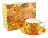 Lesser & Pavey Vincent Van Gogh Sonnenblume Tasse und Untertasse, Gelb/Orange
