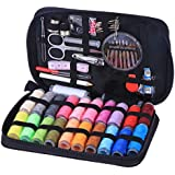 BESTONZON Sewing Kit Bundle with Scissors Thread Needles Tape Measure Carrying Case and Accessories