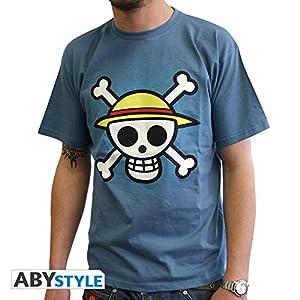 ABYstyle abystyleabytex058_ gd-xl Abysse One Piece calavera con mapa de manga corta Hombre basic T-Shirt (XL)