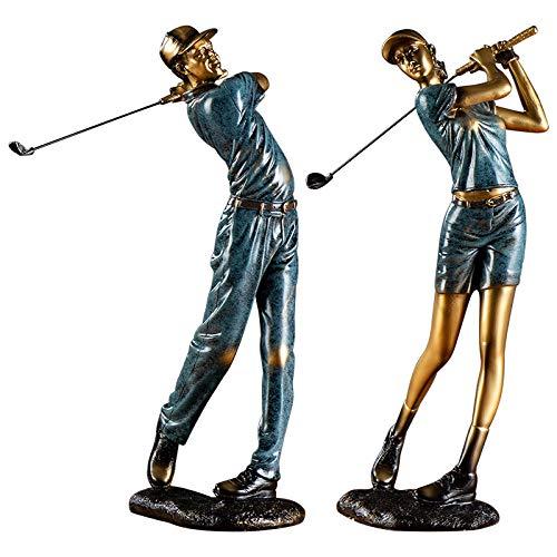 Annisoul, scultura a forma di golf, in stile europeo, per soggiorno, tv, armadietto da vino, decorazione morbida per ufficio, libreria, luce ornamentale, vino rosso.