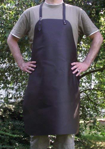 Schöne echt Leder Grillschürze - Kochschürze - Lederschürze - Kellnerschürze 70x90 cm - mit verstellbaren Riemen -