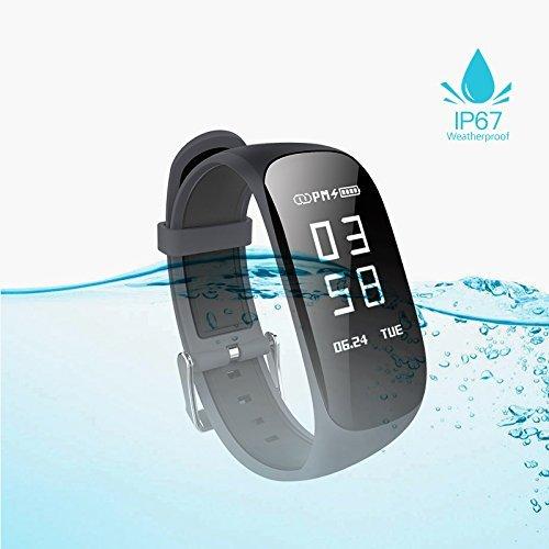 Fitness Tracker, Frauen Sport Tracker Smart Watch Band Armband, Herzfrequenzsensor Smart Armband, Frauen Schwimmen Wasserdicht ArmBand Uhr mit Gesundheit Sleep Activity Tracker Schrittzähler für Smart Phone (1* Rose Armbanduhr)