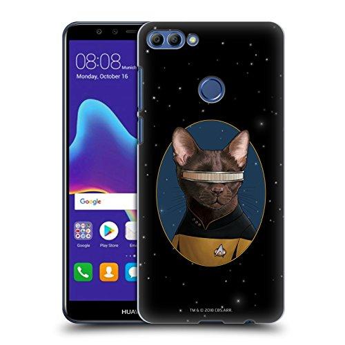 Head Case Designs Offizielle Star Trek Geordi La Forge Katzen TNG Ruckseite Hülle für Huawei Y9 (2018)/Enjoy 8 Plus (Katze Forge)
