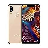 Oasics UMIDIGI A3Pro Smartphone 5,7-Zoll-Bildschirm Android 8.1; 3 + 32G; 4G-Handy, Kamerapixel: 12M + 5M Speicher Bildschirmrand: 2.5D Gebogene Kante Bluetooth-Version: Bluetooth V4.0 (Gold)