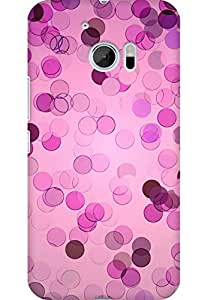 AMEZ designer printed 3d premium high quality back case cover for HTC One M10 (Pattern color abstract)