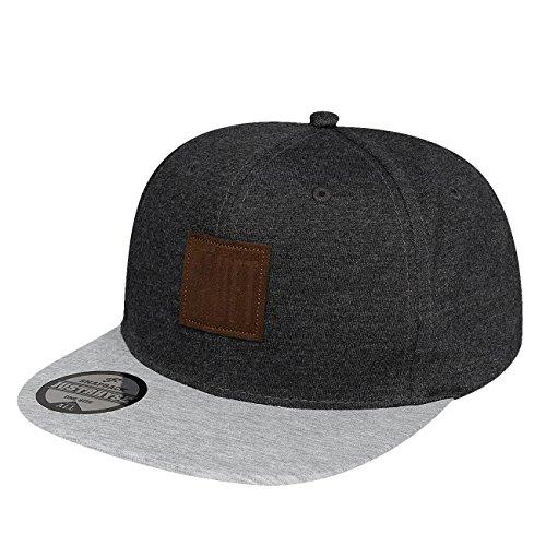 Preisvergleich Produktbild Just Rhyse Herren Caps / Snapback Cap Athen grau Verstellbar