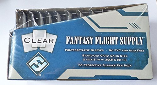 ames Standard Card Game Size Sleeves - 10 Packs + Box - FFS05 63.5 x 88 by Fantasy Flight Games ()