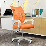 BHJqsy 360 ° drehstuhl/Bürostuhl, 360 ° drehbarer Hocker Student Computer Chair Drehbarer Rückenlehnen-Empfangssessel Barhocker zum Heben Office Boss Drehstuhl (Farbe : Orange)