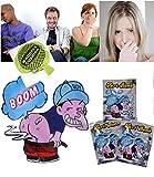 Lot de 10 boules puantes + coussin péteur - farces et attrapes - mauvaises odeurs et bruits de pets garantis - blagues indémodables. + ebook OFFERT