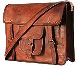Handmadecart - Bolsa bandolera de mensajero, de cuero, para hombres y mujeres, bolso de hombro,...