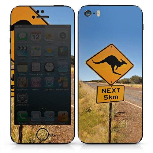Apple iPhone SE Case Skin Sticker aus Vinyl-Folie Aufkleber Känguru Australien Outback DesignSkins® glänzend