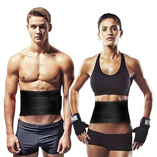 Ghb fascia elastica lombare sostegno fitness supporto schiena regolabile per uso quotidiano taglia l per unisex