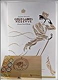 Johnnie Walker Gold Label Scotch Whisky mit 2 Original Gläsern + 45 DreiMeister Edel Schokoladen im Holzkistchen, kostenloser Versand