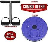 Abhaya Enterprises Tummy Trimmer + Twister, Abs Exerciser, Fitness Equipments For Home |
