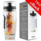 #4: InstaCuppa Fruit Infuser Water Bottle with Weight Loss & Detox Recipe eBook, Anti-Sweat Neoprene Sleeve, Protein Mixer Ball,1000ml