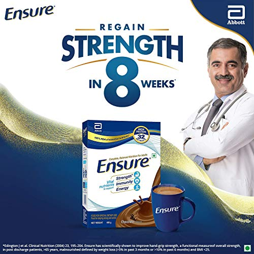 Ensure Complete, Balanced Nutrition Drink for Adults with Nutri - Strength Complex (Chocolate Flavour) - 400g