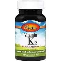 Vitamin K2 (Menatetrenone) 5mg - 60 Caps - Carlson Labs