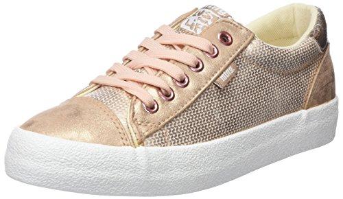 MTNG Rolling, Zapatillas de Deporte Para Mujer, Rosa (Golden City Rosa Metalizada/Glisten Rosa Metalizada/Crack Rosa Metalizada), 38 EU