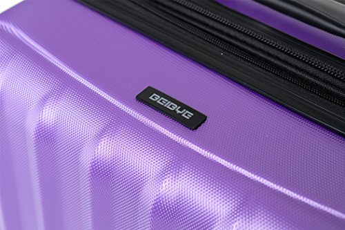 TSA-Schloß 2080 Hangepäck Zwillingsrollen neu Reisekoffer Koffer Trolley Hartschale XL-L-M(Boardcase) in 12 Farben (Lila, M) - 2
