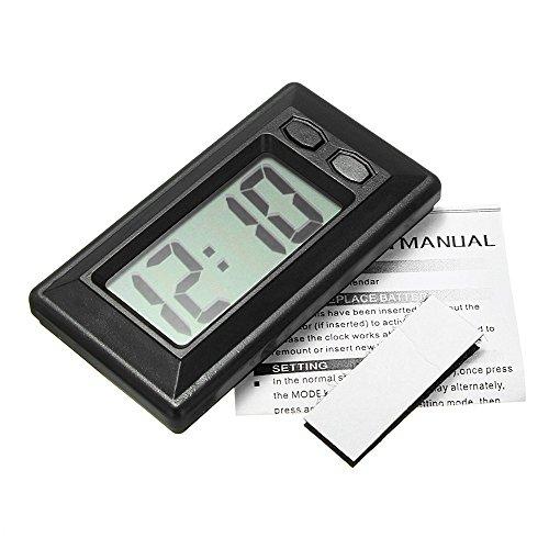 Erduo Ultradünne LCD-Digitalanzeige-Auto-Fahrzeug-Armaturenbrett-Uhr mit Kalender-Anzeigen-Miniportable-Automobilzubehör