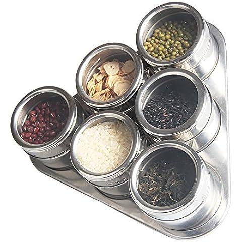 6pezzi–Scatola Condimento Condimento porta spezie vasi–Contenitore Condimento vasetti