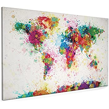 Map of the world map paint splashes canvas art print 22x34 inch map of the world map paint splashes canvas art print 22x34 inch a1 gumiabroncs Choice Image