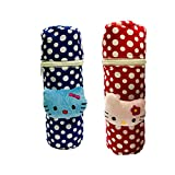 #8: First Trend Baby Feeding Bottle Cover with Soft & Attractive Fancy Cartoon Set of 2 Colors & Designs :Zipper