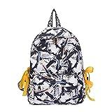 XHHWZB Niedliche Floral Canvas Rucksack Buch Schultasche für Mädchen Laptop Reise Rucksack Daypack (Farbe : A)