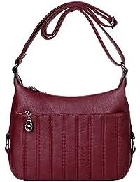 6d0b6a8e725fb WU Zhi Mutter Tasche Dame Mittelalter Alte Messenger Bag Umhängetasche  Handtasche Handtasche