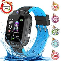 Jaybest Kids Smartwatch Waterproof, LBS Tracker Anti-Lost SOS Call Smart Wristwatch for Children SIM Card Touch Screen Camera Fun Birthday Gift for Girls Boys with Game(black)