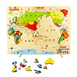 Aiming 30x40cm Monde Carte Puzzle Enfants Jouets en Bois Enfants Apprentissage Jouets...