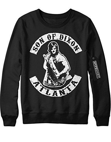 Sweatshirt The Walking Dead TWD Son Of Dixon Daryl Atlanta C980042 Schwarz M (Atlanta Kostüme)