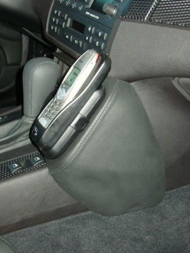KUDA Telefonconsole adatto per BMW Serie (E46) da 05/98/Compact AB 6/01, in pelle sintetica nera