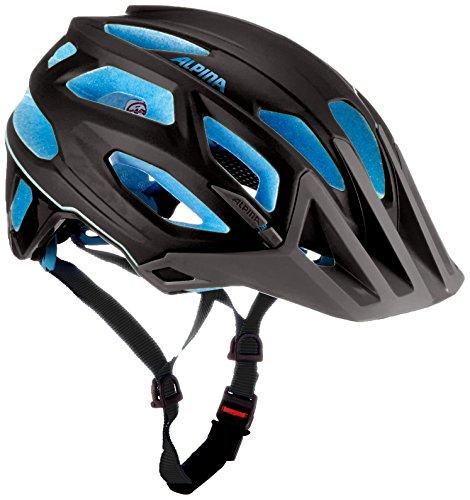 ALPINA Garbanzo Fahrradhelm, Black-Blue, 52-57