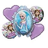Amscan 2901101 Eiskönigin Folienballonset Frozen, 5-teilig