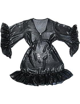 Xarismania tunica camicetta donna nero argentato tg.44-46