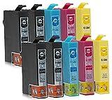 10 Druckerpatronen kompatibel zu Epson T1285 (4x Schwarz, 2x Cyan, 2x Magenta, 2x Gelb) passend für Epson L-355 Stylus BX-305F BX-305FW BX-305FW S-22 SX-125 SX-130 SX-230 SX-235 SX-235W SX-420 SX-420W SX-425W SX-430 SX-430W SX-435W SX-438W SX-440 SX-440W SX-445W