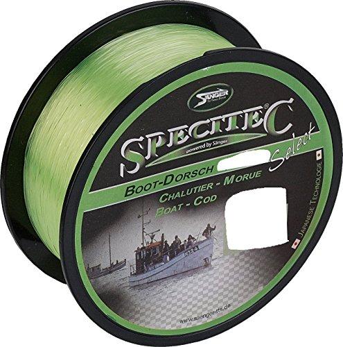 Specitec BOOT / Dorsch Schnur 0,40mm - Farbe : Fluo Yellow - Angelschnur monofil Zielfischschnur Dorschschnur