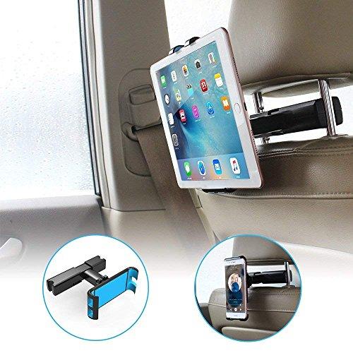 Cocoda Auto Kopfstützenhalterung, Kfz Handy Autohalterung, Einstellbare Tablet Halterung Auto für Alle 4-10,5 Zoll Smartphone Tablet