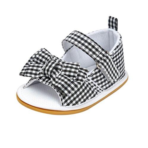 Chaussures de bébé Auxma Sandales pour bébés Épilateur d'enfant premier marcheur Chaussures pour 3-6 6-12 12-18 mois (6-12 M, A) B